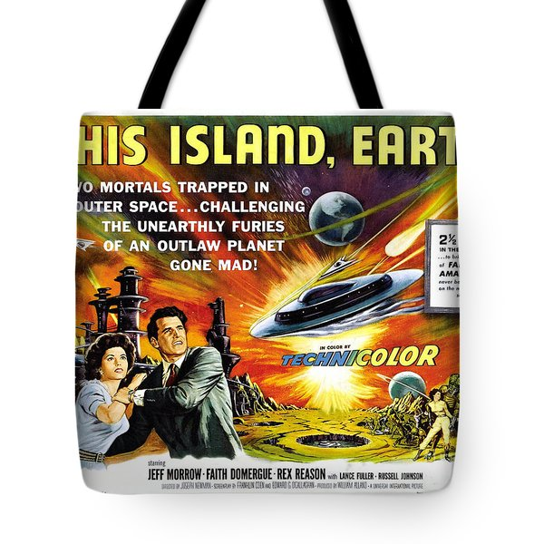 This Island Earth Science Fiction Classic Movie Tote Bag