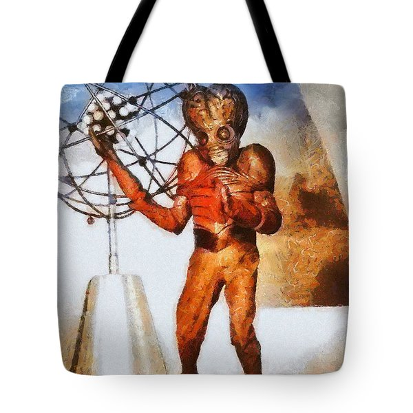 This Island Earth, Vintage Sci-fi Tote Bag