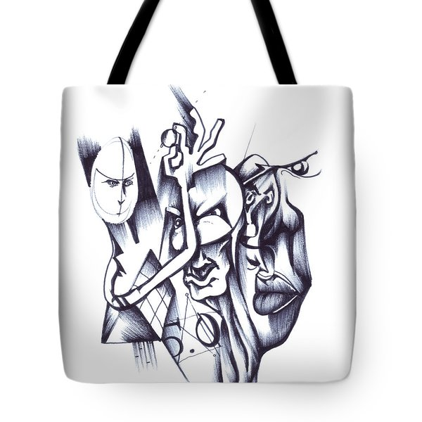 Tote Bag featuring the drawing This by Keith A Link