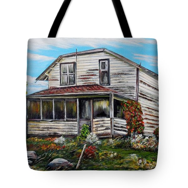 This Old House 2 Tote Bag by Marilyn  McNish