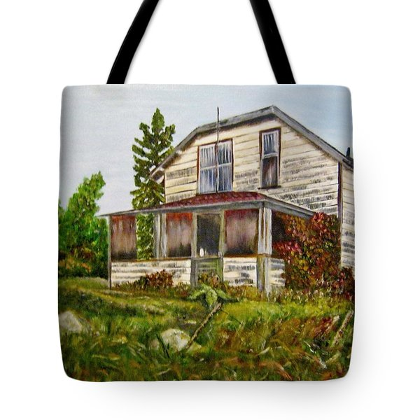 Tote Bag featuring the painting This Old House by Marilyn  McNish