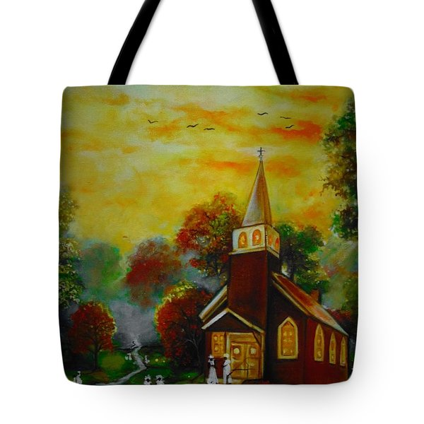 This Sunday Tote Bag by Emery Franklin