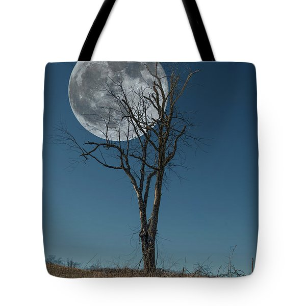 Tote Bag featuring the photograph This Tree Holds The Moon by Joe Sparks