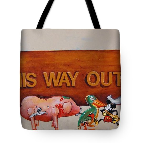 This Way Out Tote Bag