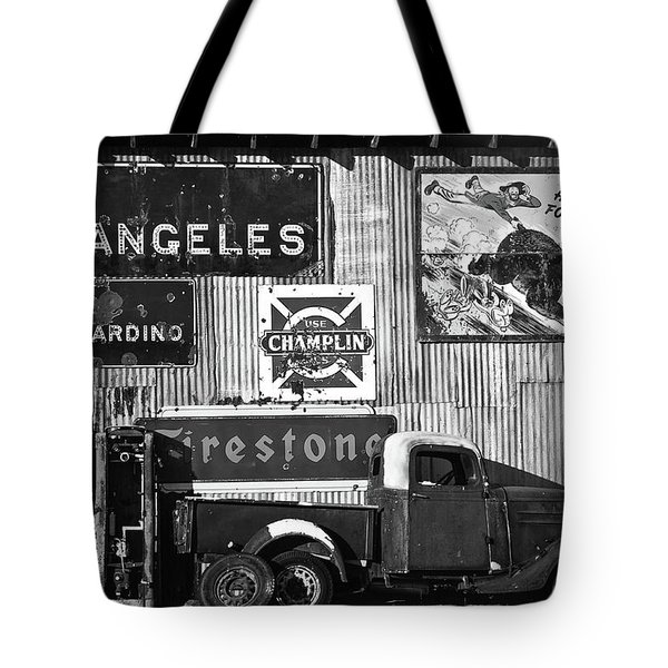 This Way To L.a. Tote Bag by Marius Sipa