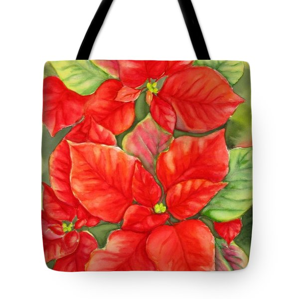 This Year's Poinsettia 1 Tote Bag by Inese Poga