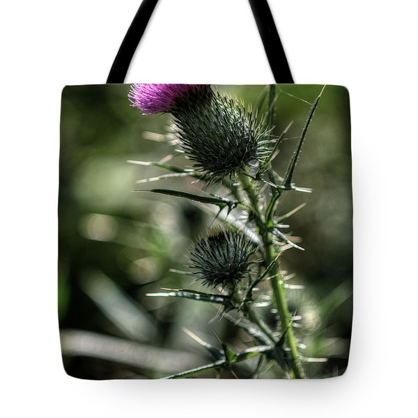 Thistle In Magenta Tote Bag