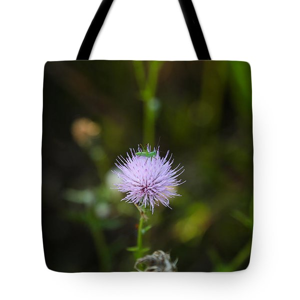 Thistles Morning Dew Tote Bag
