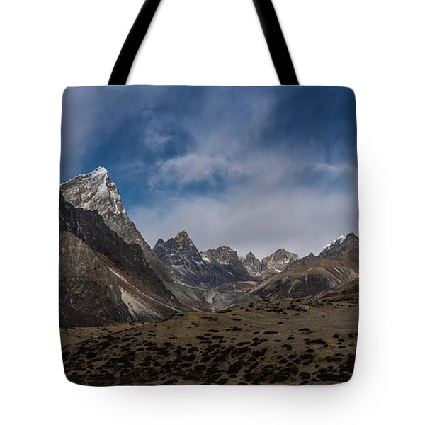 Tote Bag featuring the photograph Thokla Pass Nepal by Mike Reid