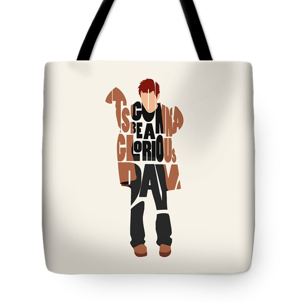 Tote Bag featuring the digital art Thom Yorke Typography Art by Inspirowl Design