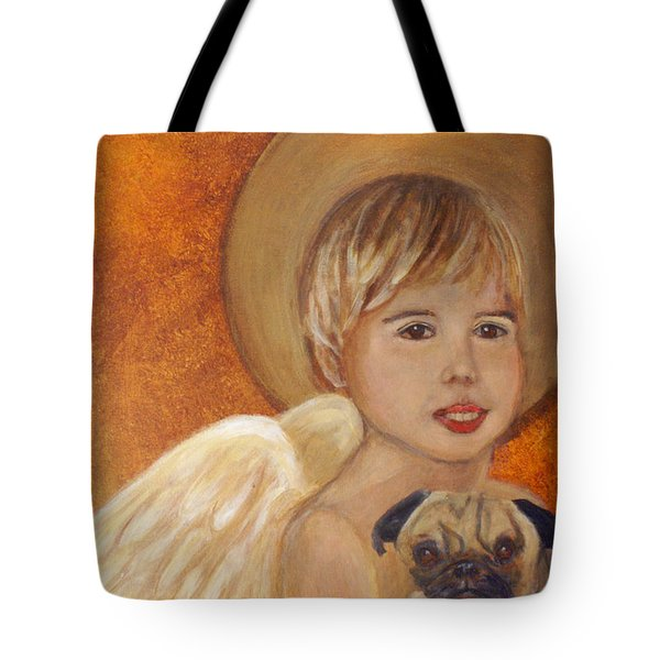 Thomas And Bentley Little Angel Of Friendship Tote Bag by The Art With A Heart By Charlotte Phillips