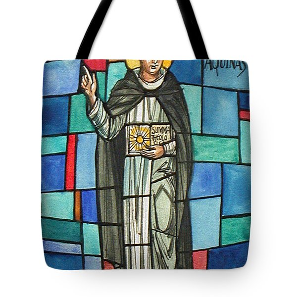 Thomas Aquinas Italian Philosopher Tote Bag by Photo Researchers