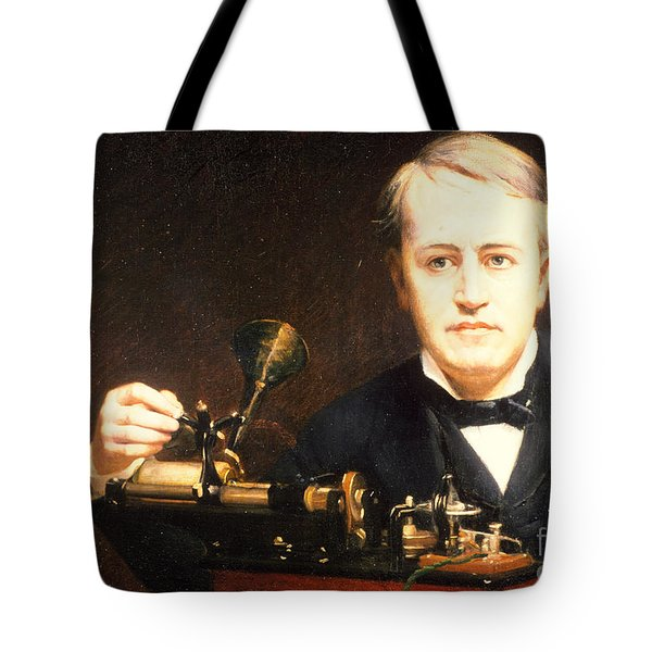 Thomas Edison, American Inventor Tote Bag by Photo Researchers
