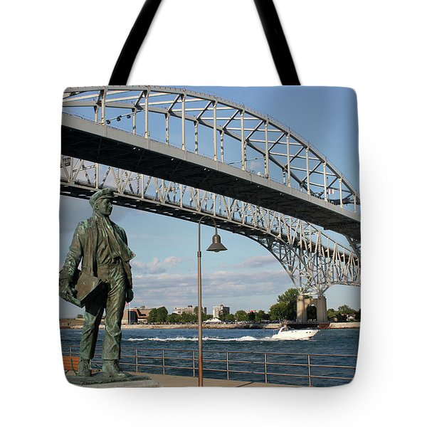 Thomas Edison And Blue Water Bridge 1 Tote Bag