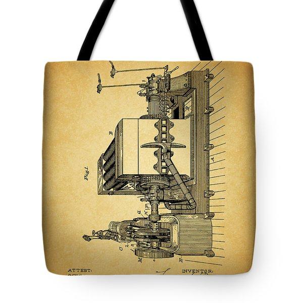 Thomas Edison Generator Patent Tote Bag by Dan Sproul