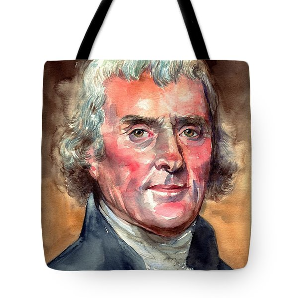 Thomas Jefferson Portrait Tote Bag
