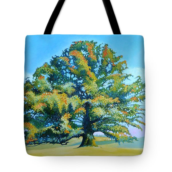 Thomas Jefferson's White Oak Tree On The Way To James Madison's For Afternoon Tea Tote Bag