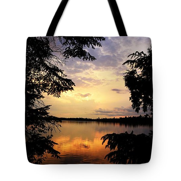 Tote Bag featuring the photograph Thomas Lake Sunset 2 by Larry Ricker