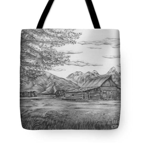 Thomas Moulton Barn Tote Bag by Lena Auxier