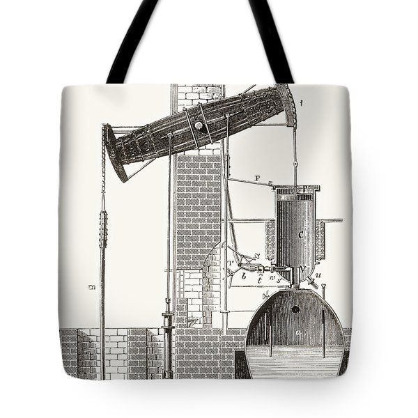 Thomas Newcomen S Atmospheric Steam Tote Bag
