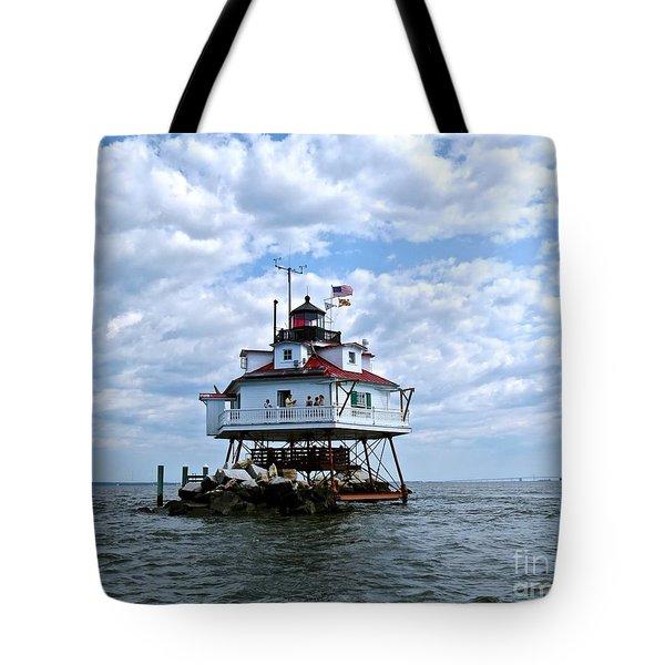 Thomas Point Lighthouse Tote Bag
