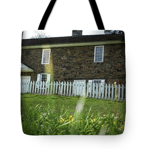Tote Bag featuring the photograph Thompson Neely House @ Washington Crossing State Park by Emanuel Tanjala