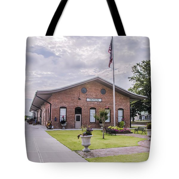 Tote Bag featuring the photograph Thomson Georgia #smalltown by Andrea Anderegg