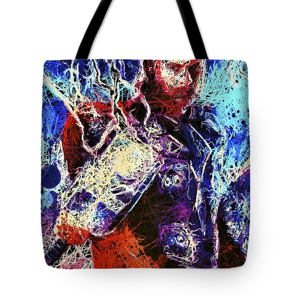 Tote Bag featuring the mixed media Thor Charged Up by Matra Art