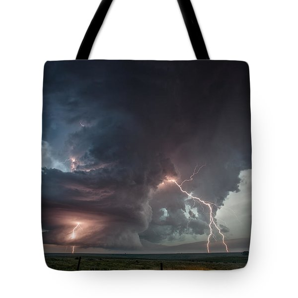 Thor Strikes Again Tote Bag by James Menzies