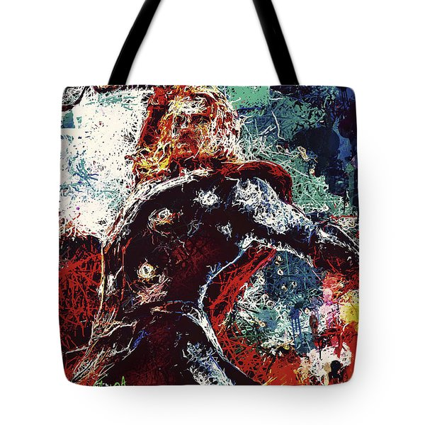Tote Bag featuring the mixed media Thor  by Al Matra