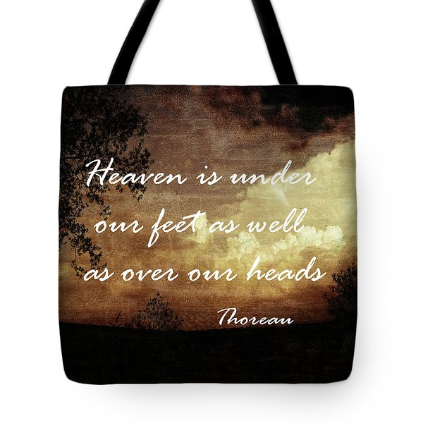 Tote Bag featuring the photograph Thoreau Nature Quote by Ann Powell
