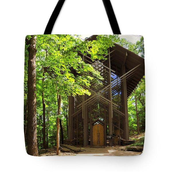 Thorncrown Chapel Eureka Springs Arkansas Exterior Horizonal Tote Bag