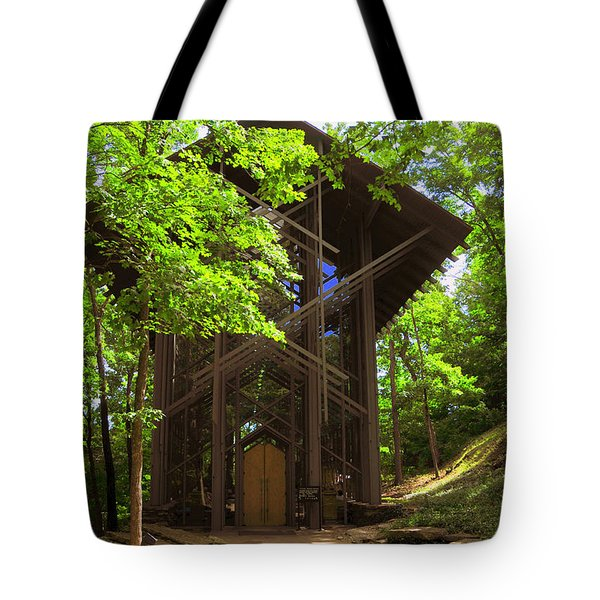 Thorncrown Chapel Eureka Springs Arkansas Exterior Verticle Tote Bag