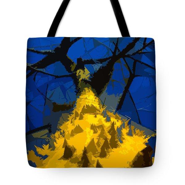 Thorny Tree Blue Sky Tote Bag by David Lee Thompson