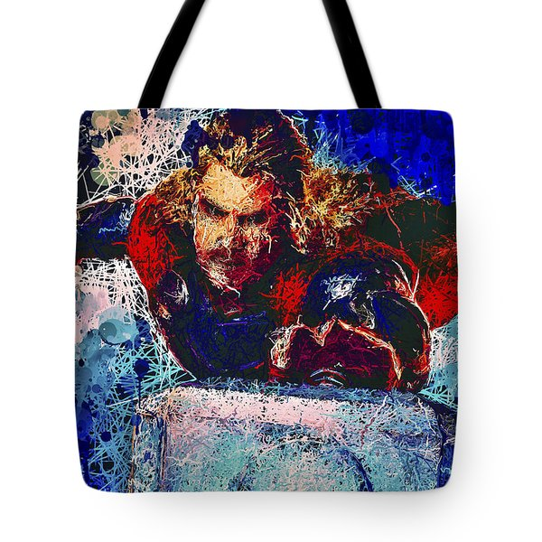 Tote Bag featuring the mixed media Thor's Hammer by Al Matra