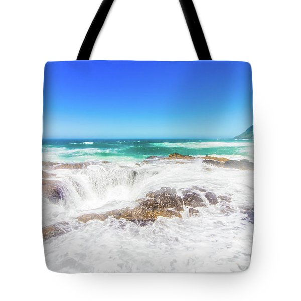 Tote Bag featuring the photograph Thor's Well Foam by Jonny D