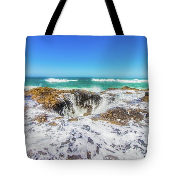 Tote Bag featuring the photograph Thor's Well by Jonny D