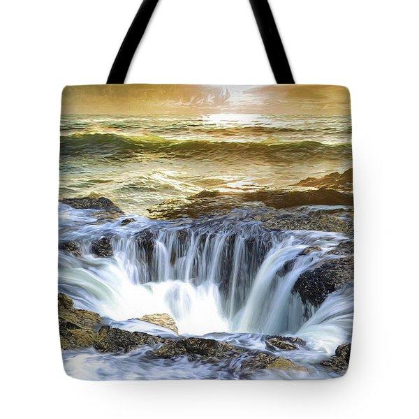Thor's Well - Oregon Coast Tote Bag