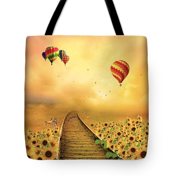 Those Infernal Flying Machines Tote Bag by Diane Schuster
