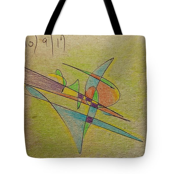 Thought Pad Series Back Paper Tote Bag