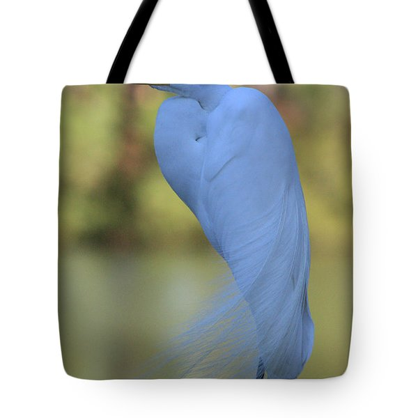 Thoughtful Heron Tote Bag