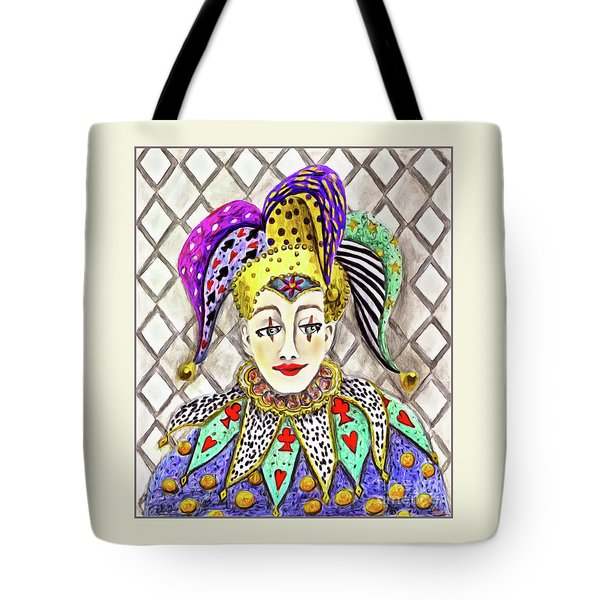 Thoughtful Jester Tote Bag