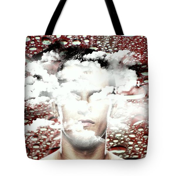 Thoughts Are Like Clouds Passing Through The Sky Tote Bag