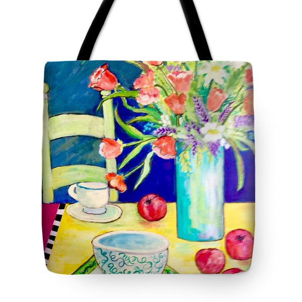 Tote Bag featuring the painting Thoughts Of Apple Pie by Rosemary Aubut