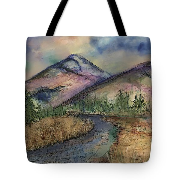 Thoughts Of Glacier Tote Bag by Annette Berglund