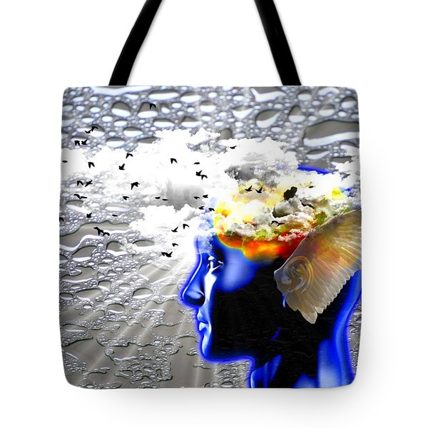 Thougths Are Like Birds Tote Bag by Paulo Zerbato