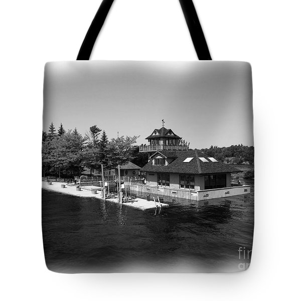 Thousand Islands In Black And White Tote Bag