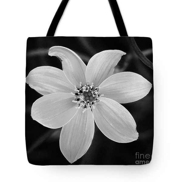 Threadleaf In Black And White Tote Bag