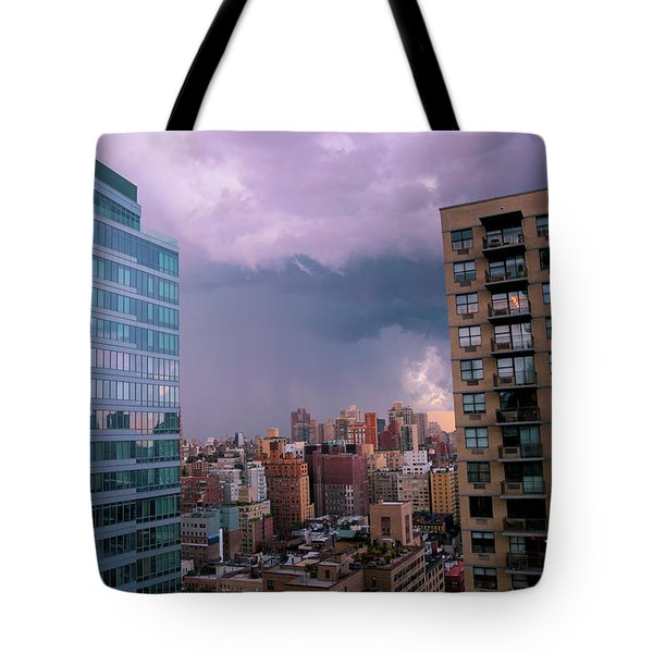 Tote Bag featuring the photograph Threatening Storm - Manhattan - 2016 by Madeline Ellis