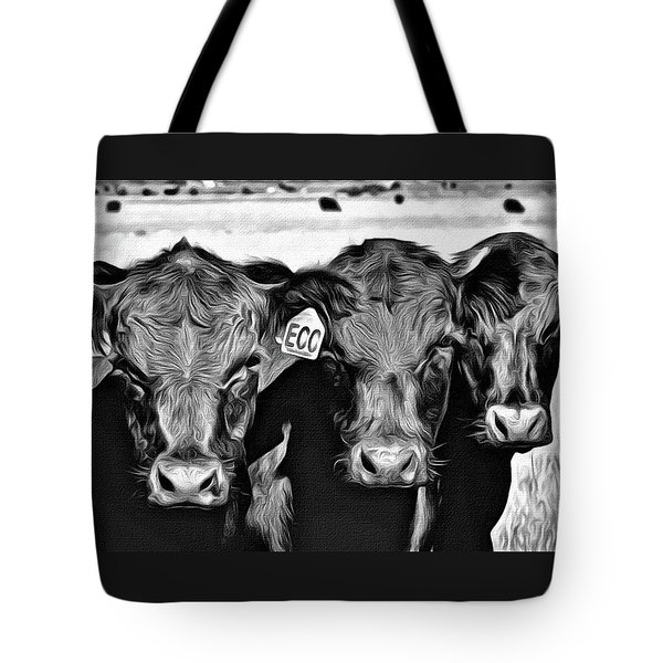 Tote Bag featuring the photograph Three Amigos-2 by Barbara Dudley